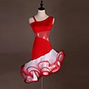 preiswerte Kleidung für Lateinamerikanischen Tanz-Latein-Tanz Kleider Damen Training / Leistung Elasthan / Tüll Kristalle / Strass Ärmellos Hoch Kleid