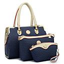 preiswerte Taschensets-Damen Knöpfe / Reißverschluss Bag Set PU Geometrische Muster 3 Stück Geldbörse Set Blau / Weiß / Rosa / Herbst Winter