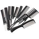 levne Péče o vlasy a styling-10ks vlasy styling hřeben set profesionální černé kartáče holiče