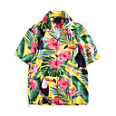 cheap Ethnic & Cultural Costumes-Aloha Hula Dancer Adults' Men's Women's Casual Beach Style T-shirt Hawaiian Costumes Luau Costumes For Party Casual / Daily Festival Polyster Blouse