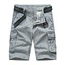 cheap Men's Sneakers-Men's Sporty Chinos / Shorts Pants - Print Cotton Gray Army Green Khaki 34 36 38
