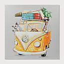 halpa Tulosteet-Hang-Painted öljymaalaus Maalattu - Pop Art Moderni Sisällytä Inner Frame