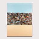 זול ציורים מופשטים-ציור שמן צבוע-Hang מצויר ביד - מופשט קלסי מודרני ללא מסגרת פנימית / בד מגולגל
