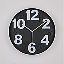levne DIY Nástěnné hodiny-Moderní soudobé Módní Plastický Kulatý Vevnitř
