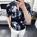 hesapli Erkek Gömlekleri-Erkek Gömlek Desen, Geometrik AB / ABD Beden Beyaz
