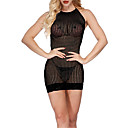 זול גופים סקסיים-בגדי ריקוד נשים חליפות Nightwear לגזור / רשת, אחיד / סרוג אודם סגול פוקסיה מידה אחת / קולר
