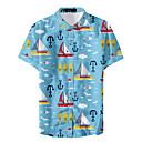 povoljno TV tuneri-Majica Muškarci Geometrijski oblici Slim Navy Plava XL