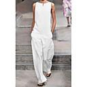 preiswerte Taschensets-Damen Street Schick Weiß Schwarz Overall, Solide M L XL