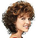 halpa Synteettiset peruukit ilmanmyssyä-Ombre / Synteettiset peruukit / Otsatukat Kihara / Syvät aallot Tyyli Vapaa osa Suojuksettomat Peruukki Ruskea Ruskea / Burgundy Synteettiset hiukset 12 inch Naisten Muodikas malli / Naisten