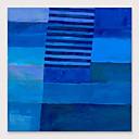 billige Abstrakte Malerier-Hang-Painted Oliemaleri Hånd malede - Abstrakt Moderne Omfatter indre ramme