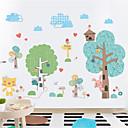 halpa Seinätarrat-sarjakuva lasten huone makuuhuone tausta tuore sisustus grove tarroja söpö päiväkoti itseliimautuva tapetti seinä tarroja