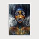 halpa Abstraktit maalaukset-Hang-Painted öljymaalaus Maalattu - Abstrakti Ihmiset Moderni Sisällytä Inner Frame