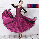 cheap Latin Dancewear-Ballroom Dance Dresses Women's Training / Performance Mesh / Elastane / Lace Lace / Split Joint Natural Dress
