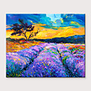 povoljno Apstraktno slikarstvo-Hang oslikana uljanim bojama Ručno oslikana - Pejzaž Cvjetni / Botanički Moderna Bez unutrašnje Frame
