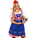 זול מגפי נשים-פסטיבל אוקטובר דירנדל טרכטנקליידר בגדי ריקוד נשים שמלה בוואריה תחפושות תלתן כחול אוקיינוס ירקן