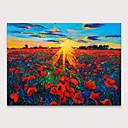 levne Abstraktní malby-Hang-malované olejomalba Ručně malované - Krajina Květinový / Botanický motiv Moderní Bez vnitřní rám