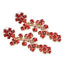 olcso Divat fülbevalók-Női Színes Mértani Függők Hamis gyémánt Fülbevaló Ananász Európai Ékszerek Piros Kompatibilitás Napi 1 pár