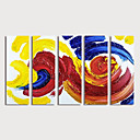 저렴한 추상화-항으로 그린 유화 손으로 그린 - 추상적인 우아한 내부 프레임 포함 / 5판넬