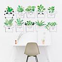 זול מדבקות קיר-קריקטורה טריים חמוד עציצים נשלפים pvc מדבקות קיר - מדבקות קיר המטוס תחבורה / נוף חדר / משרד / פינת אוכל / מטבח