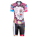 cheap Cycling Jersey & Shorts / Pants Sets-Women's Short Sleeve Triathlon Tri Suit Pink Dots Rainbow Cartoon Bike UV Resistant Breathable Moisture Wicking Quick Dry Reflective Strips Sports Lycra Dots Triathlon Clothing Apparel / Stretchy