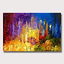 halpa Abstraktit maalaukset-Hang-Painted öljymaalaus Maalattu - Abstrakti Maisema Klassinen Moderni Ilman Inner Frame