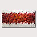 billige Abstrakte Malerier-Hang-Painted Oliemaleri Hånd malede - Abstrakt Moderne Uden indre ramme