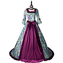 cheap Historical & Vintage Costumes-Princess Rococo Victorian Costume Women's Dress Party Costume Costume Red Vintage Cosplay Cotton Masquerade Party & Evening Long Sleeve Jewel Neck Floor Length Long Length Plus Size
