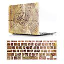 povoljno Perike s ljudskom kosom-nam verzija drvo uzorak zrna macbook plastični tvrdi slučaj s poklopcem tipkovnice zaštitni kompatibilan s novim / starim macbook air pro retina 11/12/13/15 inch