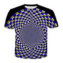 billige Sexet Organer-Herre - Geometrisk / 3D T-shirt Blå XXXL
