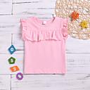 お買い得  赤ちゃん トップス-赤ちゃん 女の子 ベーシック ソリッド ノースリーブ コットン / ポリエステル Tシャツ ピンク