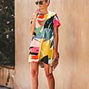 זול אומנות ממוסגרת-מעל הברך גיאומטרי - שמלה ישרה בסיסי בגדי ריקוד נשים
