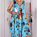 halpa Seinämaalaukset-Naisten Pluskoko Löysä Suora Mekko - Kukka, Painettu Polvipituinen