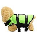 זול כלב ציוד טיפוח-כלבים חתולים ג'קט וסט חגורת הצלה בגדים לכלבים אחיד עצם פוקסיה ירוק כחול בד אוקספורד תחפושות עבור האסקי דלמטי בורדר קולי כל העונות יוניסקס עמיד למים מואר