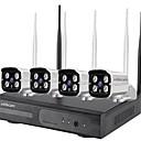 זול ערכות NVR-4ch 960p בית חכם cctv אבטחה 4 ערוץ 1.3mp רשת ה- IP טלפון סלולרי ניטור בחוץ חוצות wifi wifi אלחוטי nvr מצלמה קיט