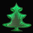 זול אוהד-1pc עץ חג המולד LED לילה אור ירוק סוללות AA יצירתי <5 V