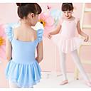 זול בגדי ריקוד לילדים-בגדי ריקוד לילדים / בלט שמלות בנות הצגה תערובת פולי וכותנה סלסולים / סרבל תינוקותבגד גוף