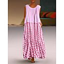 cheap Pendant Lights-Women's Elegant Shift Dress - Polka Dot White Black Blushing Pink XXXL XXXXL XXXXXL