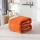 זול שמיכות וכיסויים-שמיכות מיטה / סופה לזרוק / שמיכות רב תכליתיות, אחיד / פרחוני / פשוט פלנל פליז חם יותר רך נוח סמיך