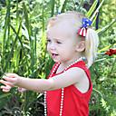 halpa Lasten asut-Cosplay Cosplay-Asut Naamiaisasu Lasten Tyttöjen Cosplay Amerikan lippu Joulu Halloween Karnevaali Festivaali / loma Kangas Sininen Karnevaalipuvut USA / USA Tulostus