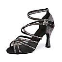 זול נעליים לטיניות-בגדי ריקוד נשים נעלי ריקוד דמוי עור נעליים לטיניות עקבים עקב רחב מותאם אישית חום / אדום / עירום / הצגה / אימון