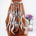 זול פידג'ט ספינרים-עור / פלנל / קש אביזר לשיער עם נוצות 1pc קרנבל / נשף מסכות כיסוי ראש
