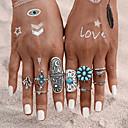 זול טבעות-בגדי ריקוד נשים טבעת הגדר זירקונה מעוקבת 9pcs כחול סגסוגת מעגלי ארופאי חתונה תכשיטים חמוד