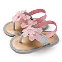 זול Kids' Flats-בנות צעדים ראשונים PU סנדלים תינוקות (0-9m) / פעוט (9m-4ys) זהב / כסף / ורוד קיץ
