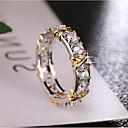 זול Fashion Ring-בגדי ריקוד נשים טבעת זירקונה מעוקבת 1pc לבן נחושת עגול מסוגנן מתנה יומי תכשיטים קלאסי בָּרוּך מגניב