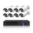 Недорогие IP-камеры для помещений-8h 4.0mp PoE IP-камера 4.0-мегапиксельная веб-камера миллионов HD веб-камера пуля HD камера 8ч комплект