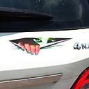 זול רכב הגוף קישוט והגנה-שחור / ירוק מדבקות לרכב הוּמוֹר סטיקרים / מדבקות / רכב זנב מדבקות לא מפורט 3D מדבקות