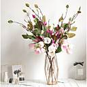זול פרחים מלאכותיים-פרחים מלאכותיים 1 ענף קלאסי סגנון מינימליסטי מודרני סחלבים פרחים נצחיים פרחים לשולחן