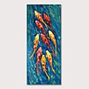 זול ציורי חיות-ציור שמן צבוע-Hang מצויר ביד - חיות אומנות פופ מודרני כלול מסגרת פנימית