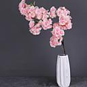 זול פרחים מלאכותיים-פרחים מלאכותיים 1 ענף קלאסי מסורתי סגנון מינימליסטי סאקורה פרחים נצחיים פרחים לרצפה