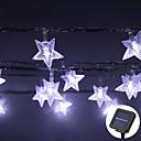 זול חוט נורות לד-lende 8m 60leds כוכב בצורת נושא הוביל מחרוזת פיות אורות waterproof מופעל השמש חג המולד חג החתונה קישוט צד התאורה